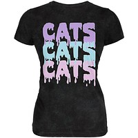 Halloween Cats Cats Cats Juniors Soft T Shirt