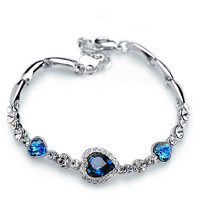 Royal Blue Rhinestone Bracelet - $9.99