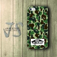 Vans Off The Wall Army Bape iPhone Case 4 4s 5 5s 5c 6 6s Plus Hardcase