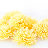 "10 4"" Sunshine Yellow Wooden Flowers, Wedding Decorations, Wedding Flowers, Rustic Wedding Decor"