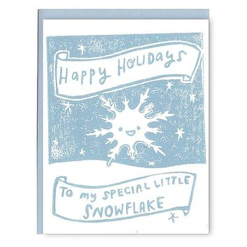 Special Snowflake Holiday Card