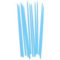 Tall Light Blue Hand Dipped Birthday Candles