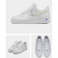 Custom Rhinestone Crystal Nike Air Force 1s Low
