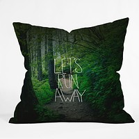 Leah Flores Lets Run Away 1 Throw Pillow