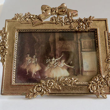 Vintage Mini Photo Frame Classical Ballet Scene French Style Picture Frame Ballet Print