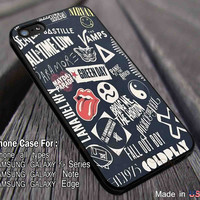 Bands Collage Sleeping With Sirens iPhone 6s 6 6s+ 5s 5c 4s Cases Samsung Galaxy s5 s6 Edge+ NOTE 5 4 3 #music #sws #fob #5sos #cdp dl3