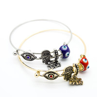 Hamsa lucky bangle bracelet