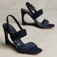 Rachel Comey Poppy Wedges in Midnight Blue Size: