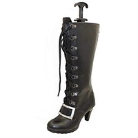 Brdwn Hot game women's Bewitching Nidalee black middle calf cosplay boots custom High heel shoes