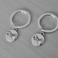 ON SALE set of 2 Pinky promise Key chains. Sisters,  Best Friends, couples, boyfriend Girlfriend Gift,  Christmas