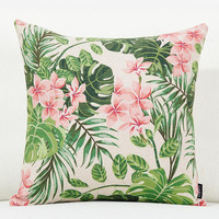 Free shipping tropical rainforest Decorative Pillow s fashion and cozy Pillow flowers pattern Pillows Decorative