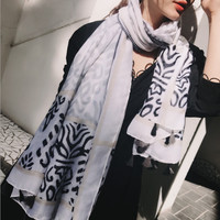 Leopard super long beach towel summer and spring scarf sun guard shawl