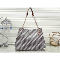 Wearwinds Dior Hot Selling Ladies'Printed Coloured Single Shoulder Bag Shopping Bag Brown