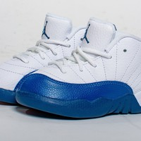 QIYIF Air Jordan Retro 12 XII 'French Blue'  Toddler TD & Preschool PS