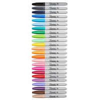 Sharpie® Fine Point Permanent Markers, Assorted Fashion Colors, 24/pk (75846) | Staples