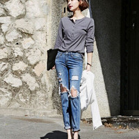 Hole Loose Ripped Jeans
