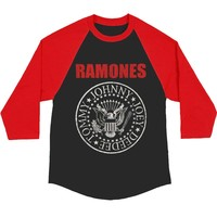 Ramones Men's  Baseball Jersey Black Rockabilia