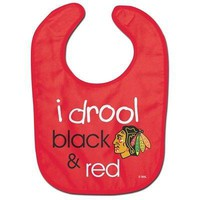 Licensed Chicago Blackhawks Official NHL Baby Bib All Pro Style by Wincraft 219527 KO_19_1