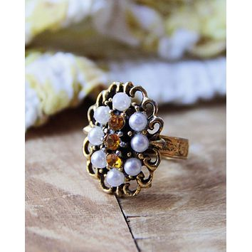 Vintage Jeweled Cocktail Ring