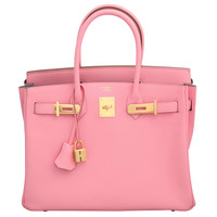 """Hermes Rose Confetti Pink """"Special Order"""" Chevre Birkin with Horseshoe Stamp"""