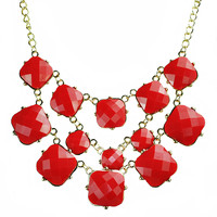 Bubble Jewelry Spring Color Bib Necklace
