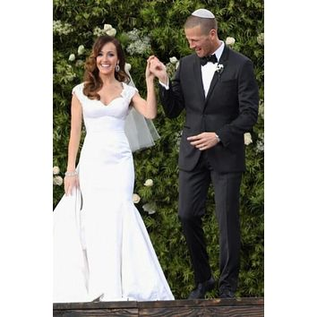Ashley Hebert Wedding Dress Celebrity Bridal Gown With Open Back For Sale