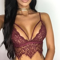 Sexy Lace Top Lingerie Bra