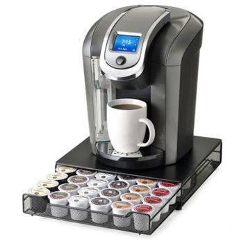 """""""Keurig Brewed"""" Under the Brewer 36 K-Cup Capacity Rolling Drawer by Nifty™"""