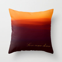 Love come down Throw Pillow by Armine Nersisyan