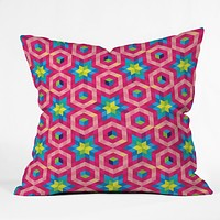 Raven Jumpo Facets Outdoor Throw Pillow