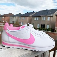 Nike Forrest Classic Cortez running shoes classic sports shoes retro shoes pink
