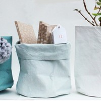 Storage Bag in Painted Linen