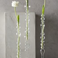 Bulle Glass Tapered Vase by Anthropologie in Clear Size: