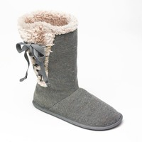 Unleashed by Rocket Dog Snowy Scout Knit Lace-Up Boot Slippers