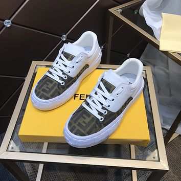 FENDI Men Fashion Boots fashionable Casual leather Breathable Sneakers Running Shoes0523em
