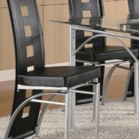 Dining Chair Set of 2/Black