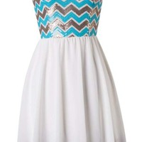 Sequin Chevron Dress