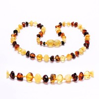 [DROPSHIP]Amber Teething Necklace/Bracelet for Baby - 3 Sizes - 4 Colors