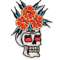Skull Vase Tiki Patch