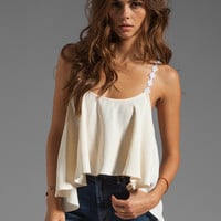 For Love & Lemons Cherry Pop Tank in Ivory from REVOLVEclothing.com