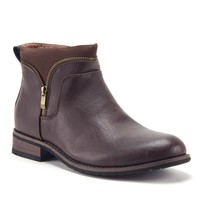 Men's 606321 Ankle High Combined Zipped Riding Dress Boots