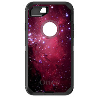 DistinctInk™ OtterBox Defender Series Case for Apple iPhone / Samsung Galaxy / Google Pixel - Hot Pink Black Stars Nebula