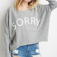 Heathered Sorry Graphic Pullover