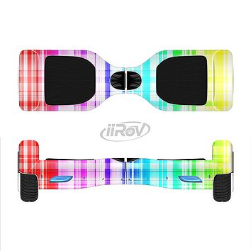 The Bright Rainbow Plaid Pattern Full-Body Skin Set for the Smart Drifting SuperCharged iiRov HoverBoard
