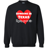 Someone Texas Loves Me Long Distance Relationship Shirt