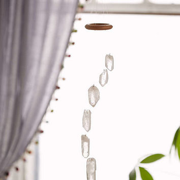 White Quartz Crystal Mobile   Urban Outfitters