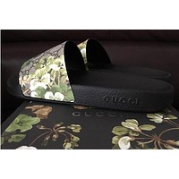 shosouvenir:Gucci Casual Fashion Women Floral Print Sandal Slipper Shoes
