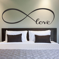 Personalized Infinity Symbol LOVE Bedroom Wall Art Decal Quotes Vinyl Wall Stickers Butterflies wall sticker Home Decoration