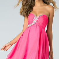 Short Strapless Sweetheart Homecoming Dress by Alyce Paris