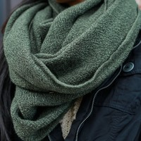 Forever Darling Infinity Scarf - Olive